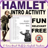 HAMLET INTRODUCTION ACTIVITY  Fun Compatibility Survey DIG
