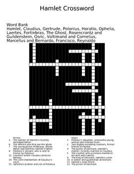 Hamlet Crossword Puzzle