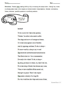 Lesson Plans: Hamlet