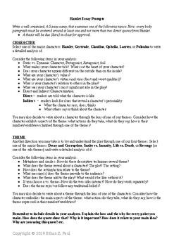 Hamlet essay prompts