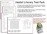 Hamlet Exam Complete Acts 1 - 5 With Answer Keys