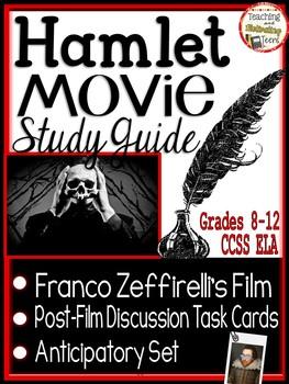 Hamlet Film Study Guide 1990 Zeffirelli Anticipatory Set & Discussion Task Cards
