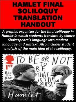 """""""Hamlet"""" Final Soliloquy Translation Handout"""