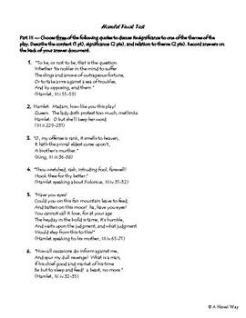 Hamlet Final Test