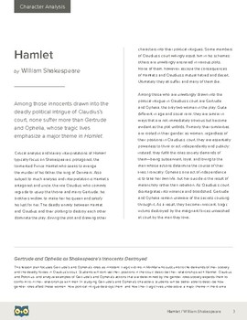 Hamlet: Gertrude and Ophelia as Shakespeare's Innocents Destroyed