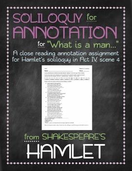 Hamlet: Hamlet's Act IV, Scene 4 soliloquy annotation