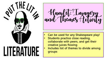 Hamlet Imagery and Themes Activity