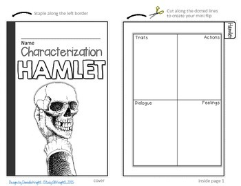 HAMLET: INTERACTIVE NOTEBOOK CHARACTERIZATION MINI FLIP