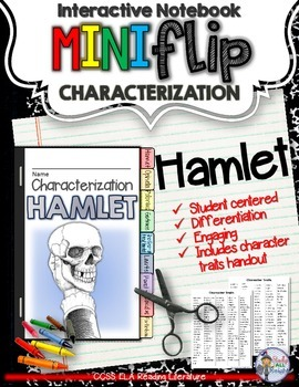 HAMLET: INTERACTIVE NOTEBOOK CHARACTERIZATION MINI FLIP