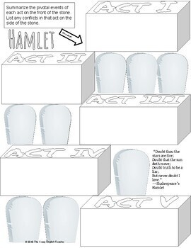 Hamlet Interactive Notes, Graphic Organizers, Sketch Notes
