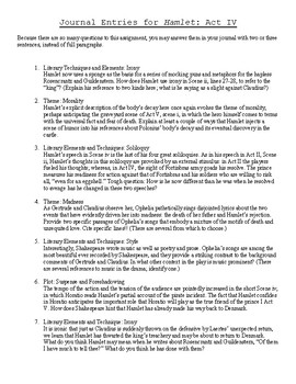 Hamlet Journal Assignment