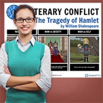 Hamlet: Literary Conflict Poster