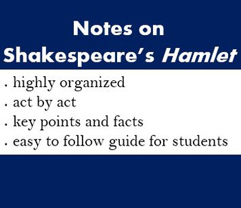 Hamlet Overview Act by Act