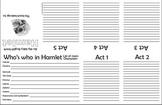 Hamlet Plot line Foldable (Shakespeare) Itty Bitty Book
