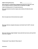 Hamlet Pre-Reading and Act One Comprehension Questions