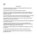Hamlet Pre-reading Questionnaire