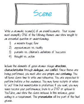 Hamlet Project: Dramatic Scene Creative Writing