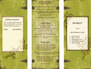 Hamlet Quick Reference Pamphlet Bookmark