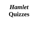 """Hamlet"" Quizzes or Study Guides"