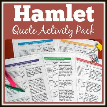 Hamlet Activity Pack With Original & Interactive Graffiti