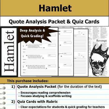 Hamlet - Quote Analysis & Reading Quizzes