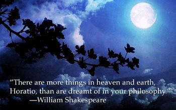 Hamlet Quote Poster: More Things On Heaven and Earth
