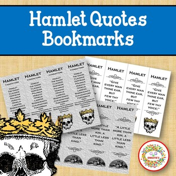Hamlet Quotes Bookmarks