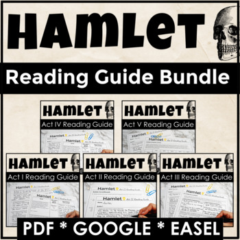 Hamlet Complete Reading Guide Bundle for Engagement and Discussions