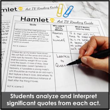 Hamlet Reading Guide Bundle