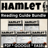 Hamlet Distance Learning Reading Guide Bundle with Google Links
