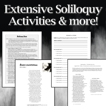 Hamlet Reading Guides and Soliloquy Activities