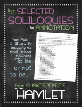 Hamlet: Selected soliloquies annotation bundle