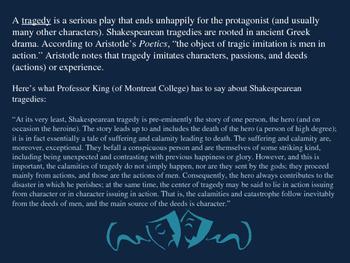 Hamlet (Shakespeare) Presentation