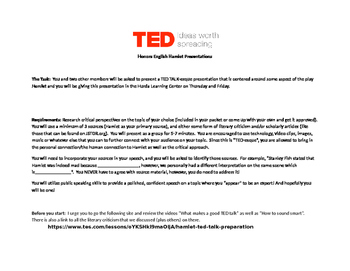 Hamlet TED Talk (esque) presentations