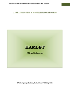 Hamlet- Teacher Text Guide and Worksheets, Shakespeare