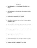 Hamlet Test--Act I