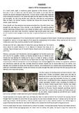 Hamlet - The Story - Reading Comprehension Worksheet