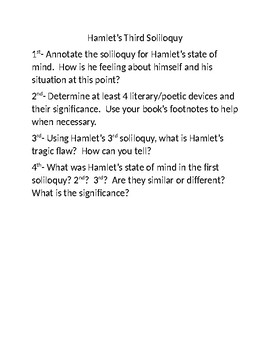 hamlets second soliloquy analysis