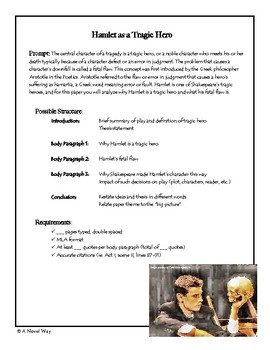 hamlet tragic hero essay prompt rubric by a novel way tpt hamlet tragic hero essay prompt rubric