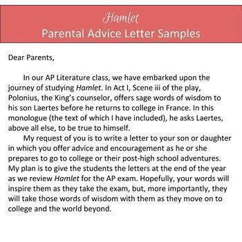 Hamlet Unit Activities