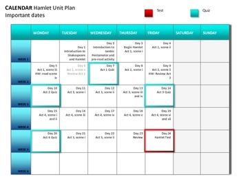 Hamlet Unit Plan