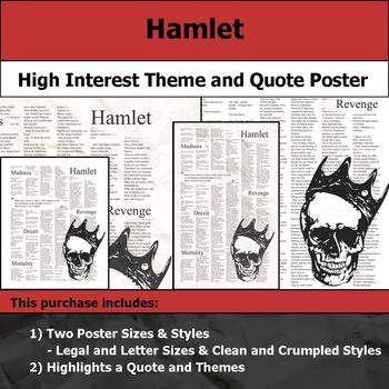 Hamlet - Visual Theme and Quote Poster for Bulletin Boards