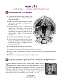 Hamlet (IB Shakespeare) - Act 1, Scene 2 - Claudius - Worksheet + ANSWERS