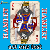 HAMLET ACT ONE TEST: questions, answer key, review worksheet