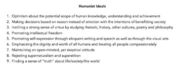 Hamlet and Humanism Activity
