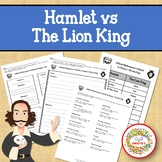 Hamlet and The Lion King Comparison Contrast Activities