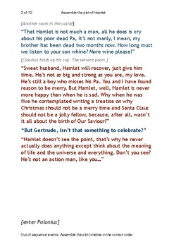 Hamlet plot assembly: follow-up to 15-minute satirical reading
