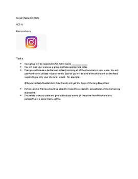 Hamlet social media assignment