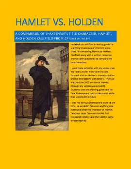 Hamlet vs. Holden Comparsion Writing