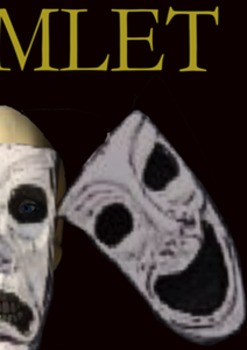 Hamlet with drama masks poster
